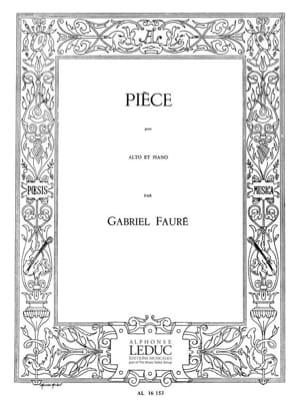Gabriel Fauré - Pièce – Alto - Partition - di-arezzo.fr