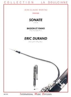 Eric Durand - Sonate - Basson et piano - Partition - di-arezzo.fr