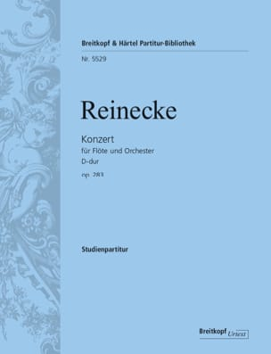 Carl Reinecke - Flute Concerto in D major, op. 283 - Sheet Music - di-arezzo.com