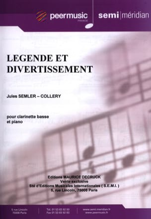 Jules Semler-Collery - Legend and Entertainment - Sheet Music - di-arezzo.co.uk