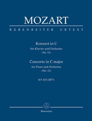 Wolfgang Amadeus Mozart - Klavierkonzert Nr. 13 C-Dur KV 415 – Partitur - Partition - di-arezzo.fr