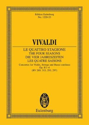 Antonio Vivaldi - Die vier Jahreszeiten, op.8/1 - Partition - di-arezzo.fr