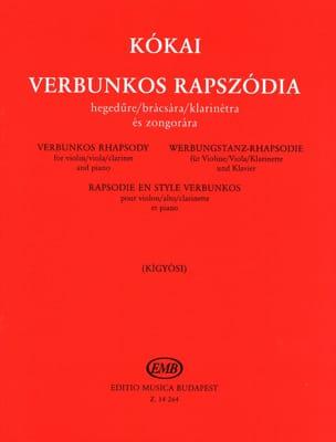 Verbunkos Rhapsody Rezso Kokaï Partition Violon - laflutedepan