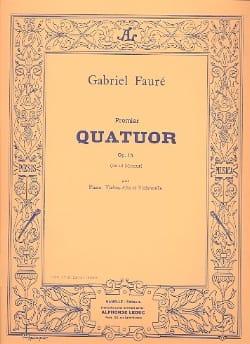 Quatuor n° 1 op. 15 ut mineur - Parties Gabriel Fauré laflutedepan