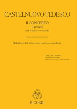 Concerto n° 2 (I profeti) - Violon et piano - laflutedepan.com