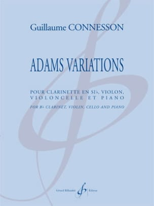Guillaume Connesson - Adams Variations - Sheet Music - di-arezzo.co.uk
