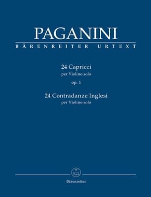Niccolò Paganini - 24 Capricci - 24 Contradanze Inglesi - Sheet Music - di-arezzo.co.uk