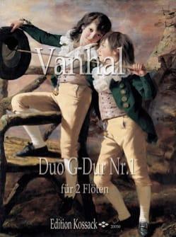 Johann Baptist Vanhal - Duo G Dur Nr. 1 - Partition - di-arezzo.fr