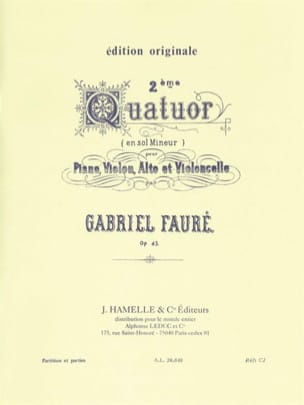 Gabriel Fauré - Quartet No. 2 op. 45 minor ground - Parts - Sheet Music - di-arezzo.co.uk