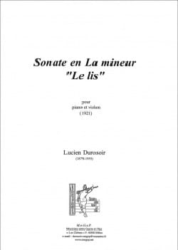 Sonate en La mineur Le Lis - Lucien Durosoir - laflutedepan.com