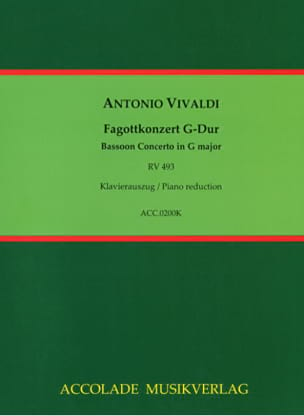 VIVALDI - Konzert G Dur RV 493 for Fagott, Streicher und Cembalo - Sheet Music - di-arezzo.co.uk