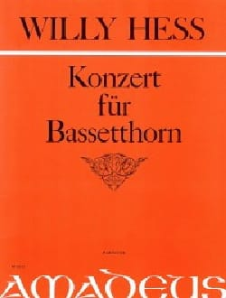 Willy Hess - Konzert für Bassetthorn - Sheet Music - di-arezzo.co.uk