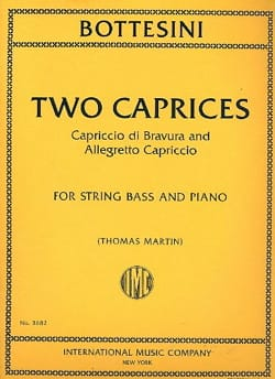 Giovanni Bottesini - Two Caprices - Sheet Music - di-arezzo.com