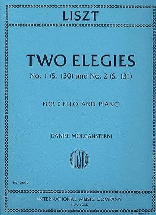 Two Elegies LISZT Partition Violoncelle - laflutedepan