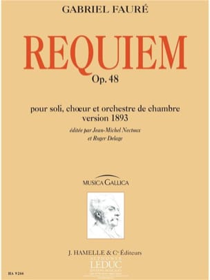 Requiem op. 48 - Version 1893 - Conducteur - FAURÉ - laflutedepan.com