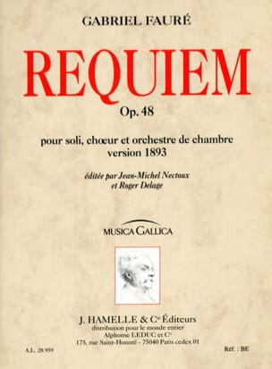 Requiem op. 48 - Version 1893 - Conducteur FAURÉ laflutedepan