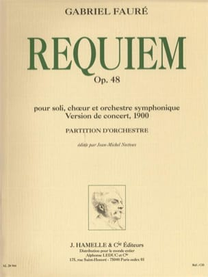 Gabriel Fauré - Requiem op. 48 - Version 1900 - Partition - di-arezzo.fr