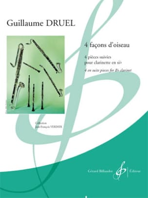 Guillaume Druel - Four ways of bird - Clarinet - Sheet Music - di-arezzo.com
