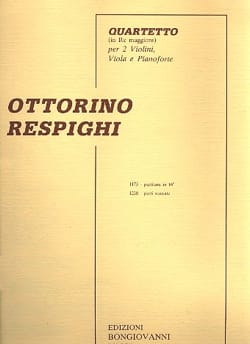 Quartetto in re maggiore - RESPIGHI - Partition - laflutedepan.com