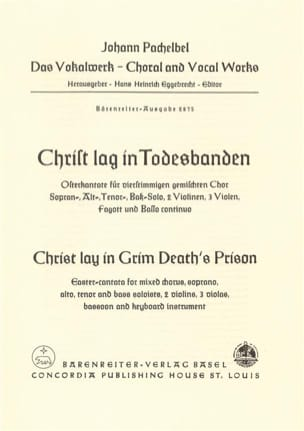 Johann Pachelbel - Christ lay in grim death's prison - score - Partition - di-arezzo.fr