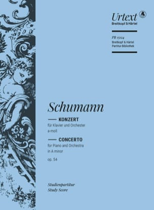 SCHUMANN - Piano Concerto in Minor op. 54 - Sheet Music - di-arezzo.co.uk