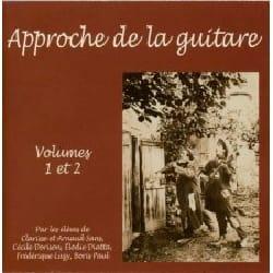 Approche de la guitare - Volume 1 et 2 CD - laflutedepan.com