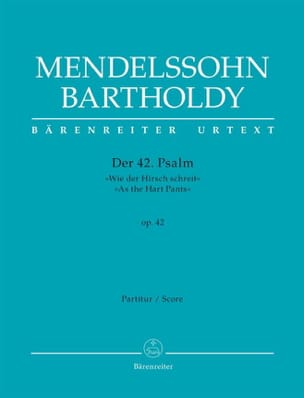 MENDELSSOHN - Psalm 42 - Sheet Music - di-arezzo.co.uk