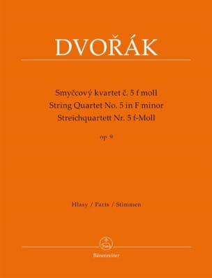 Quatuor à Cordes Op. 9 n° 5 DVORAK Partition Quatuors - laflutedepan