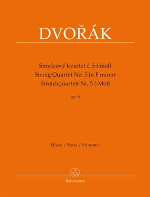 Quatuor à Cordes Op. 9 n° 5 - Antonin Dvorak - laflutedepan.com