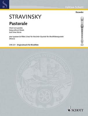 Pastorale - Igor Stravinsky - Partition - laflutedepan.com