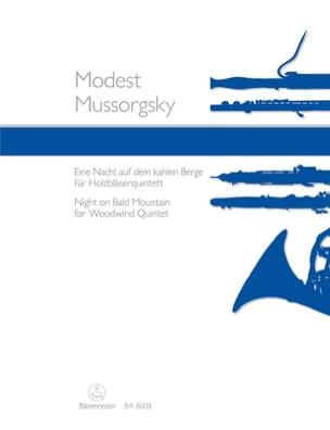 Modeste Moussorgski - Une Nuit sur le Mont Chauve - Quintette à Vents - Partition - di-arezzo.fr
