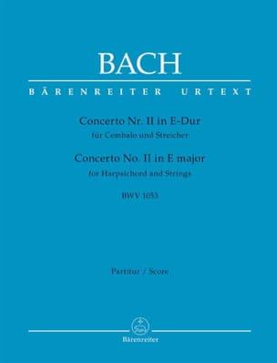 BACH - Concerto n° 2 BWV 1053 - Partition - di-arezzo.fr