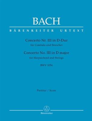 BACH - Concerto n° 3 BWV 1054 - Partition - di-arezzo.fr