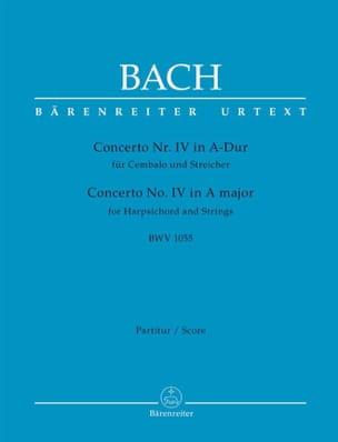 BACH - Concerto n° 4, BWV 1055 - Partition - di-arezzo.fr