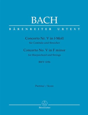 Concerto n° 5, BWV 1056 BACH Partition Grand format - laflutedepan