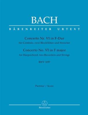 BACH - Concerto n° 6, BWV 1057 - Partition - di-arezzo.fr