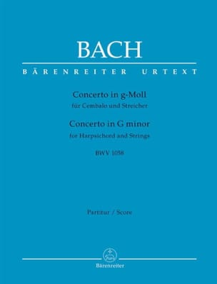 Johann Sebastian Bach - Concerto BWV 1058 g-moll - Partition - di-arezzo.fr