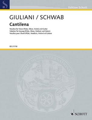 Emilia Giuliani - Cantilena - Flûte (ou Voix) et Guitare - Partition - di-arezzo.fr