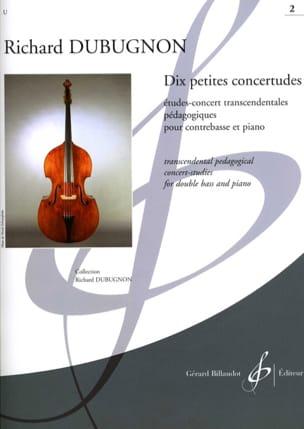 Richard Dubugnon - Dix petites Concertudes, Volume 2 - Partition - di-arezzo.fr