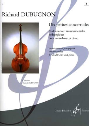 Dix petites Concertudes, Volume 1 Richard Dubugnon laflutedepan