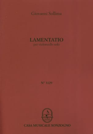 Giovanni Sollima - Lamentatio - Sheet Music - di-arezzo.co.uk