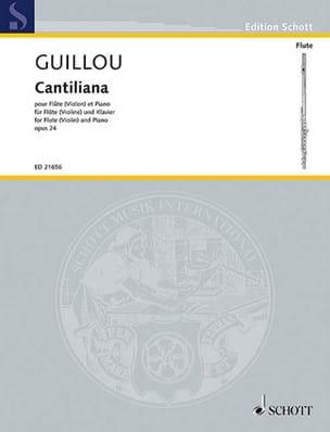 Cantiliana, opus 24 Jean Guillou Partition laflutedepan