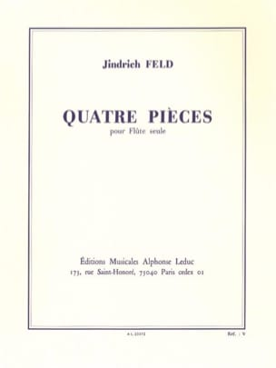 Jindrich Feld - 4 Pieces - Solo Flute - Sheet Music - di-arezzo.co.uk