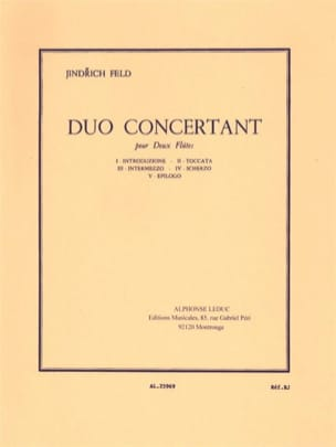 Jindrich Feld - Duo concertant - Partition - di-arezzo.fr