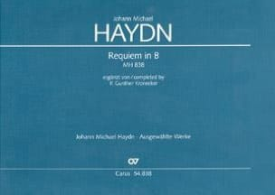 Requiem in B - Michael Haydn - Partition - laflutedepan.com