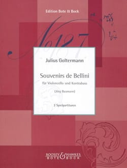 Georg Goltermann - Souvenirs de Bellini - Cello and Double-Bass - Partition - di-arezzo.fr