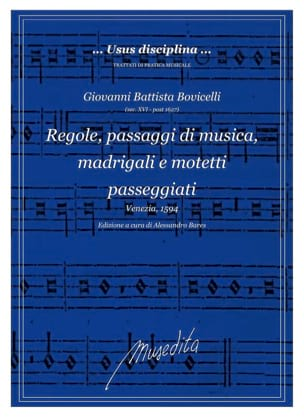 Giovanni Battista Bovicelli - Regole, passaggi di musica - Sheet Music - di-arezzo.com