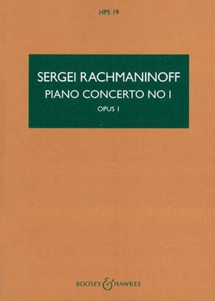 RACHMANINOV - Concerto For Piano And Orchestra N ° 1 - Sheet Music - di-arezzo.co.uk