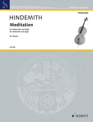Paul Hindemith - Meditation - Violoncelle et Orgue - Partition - di-arezzo.fr