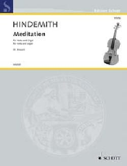 Paul Hindemith - Meditation - Alto et Orgue - Partition - di-arezzo.fr